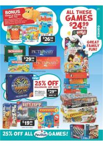 Toys R Us Board Games Catalogue page