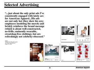 American Apparel Advertising Critique quote