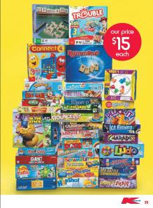 Another board games page from Kmart's catalogue