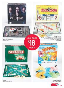 Kmart Toy catalogue board games page